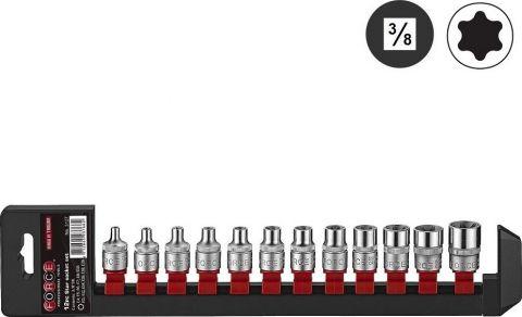 """Σετ 12τμχ Καρυδάκια 3/8"""" Torx Θηλυκά FORCE(3127)"""