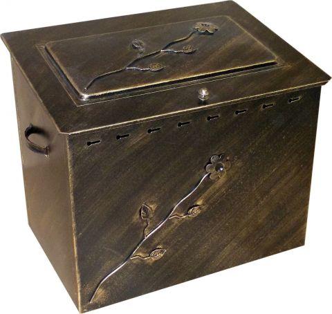 Ξυλοθήκη Μεταλλική Με Καπάκι Μ:60*Υ:50:Β:40cm(ΞΥΛ-60)