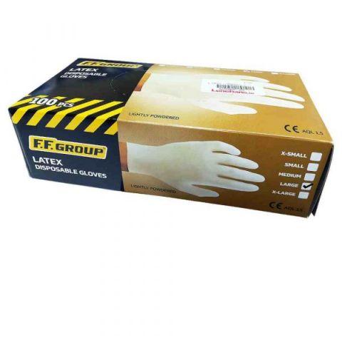 Γάντια Μίας Χρήσης Λευκά FFGROUP(27145)