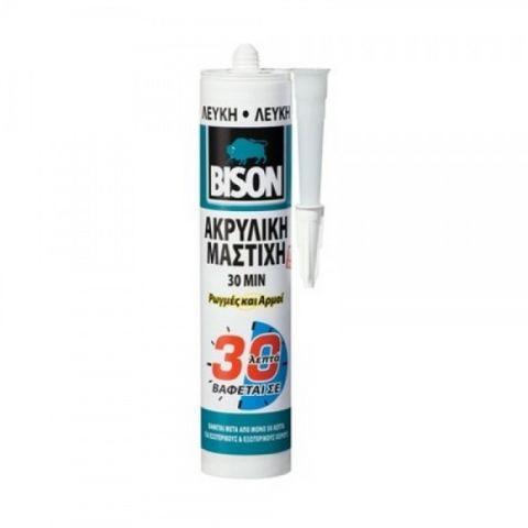 Ακρυλική Μαστίχη Σιλικόνη Γενικής Χρήσης Λευκή BISON(3949)