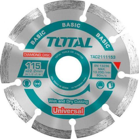 Διαμαντόδισκος Universal 115mm TOTAL(TAC2111153)