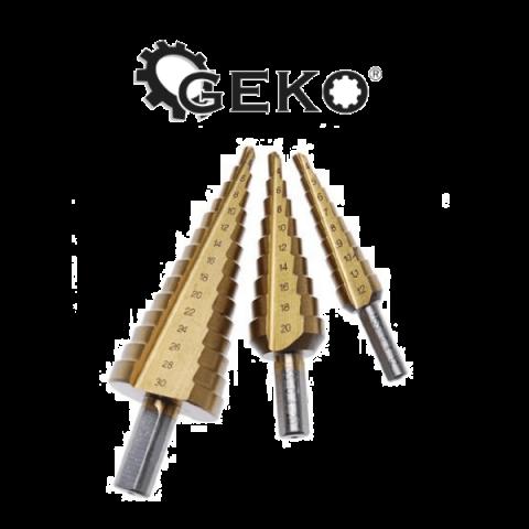 Σετ Τρυπάνια Μετάλλου Κώνικα 4-32mm GEKO(G38502)