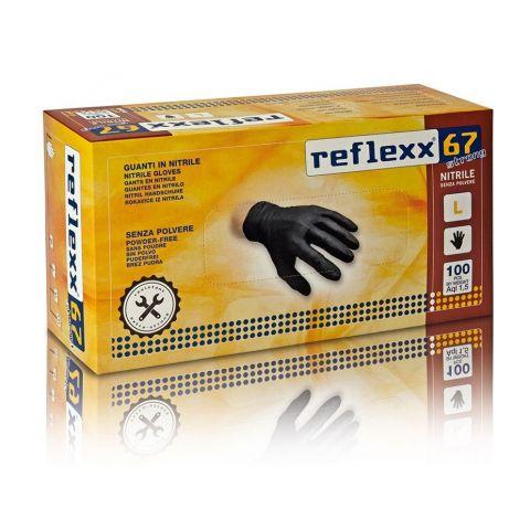 Γάντια Νιτριλίου Μίας Χρήσεως Χοντρά 100τμχ. REFLEXX(67)