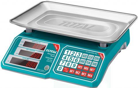 Ηλεκτρονική Ζυγαριά 30Kg TOTAL(TESA3301)