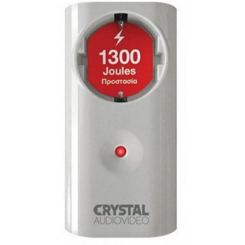 Πρίζα Προστασίας Λευκή Σούκο CRYSTALAUDIO(CP1-1300-70W)