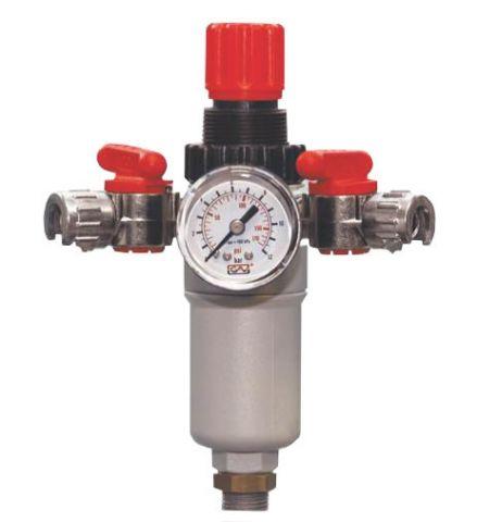 Ρυθμιστής Πίεσης Για Αεροσυμπιεστές 1/2΄΄ Με Μανόμετρο12Bar(90180)