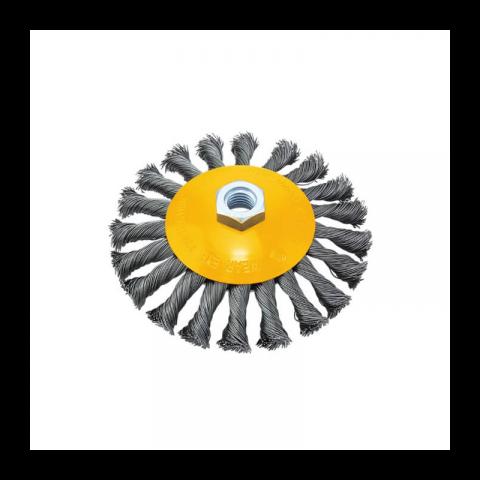 Συρματόβουρτσα Στρόγγυλη Στριφτή 100mm Με Υποδοχή Μ14 FFGROUP(38691)
