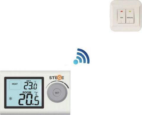 Ψηφιακός Ασύρματος Θερμοστάτης Χώρου Θέρμανσης-Ψύξης STEGE(SG100RF)