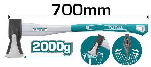 Τσεκούρι Σφήνας 2Kg Με Πλαστική Λαβή TOTAL(THT798026)